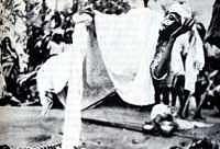 Plunkett y su amigo examinaron el espacio que había debajo y alrededor del yogui, sin hallar rastro alguno de hilos, cordeles u otros trucos. Aunque algunos han sugerido que el yogui únicamente se encontraba en trance cataléptico, la posición relajada de la mano sobre el bastón indica que casi no pesaba durante la sesión. Una vez terminada la levitación, el cuerpo del yogui estaba completamente rígido.