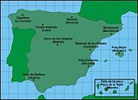 Mapa de España con detalles